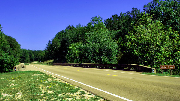 The Natchez Trace near the MS-AL State Line