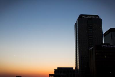 Downtown Birmingham, Alabama at Sunset