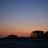 Long after sundown along the beach in Gulf Shores, Alabama