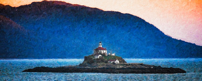 Skagway Alaska Lighthouse Painting Copyright 2021 Steve Leimberg UnSeenImages Com _Z2A8780