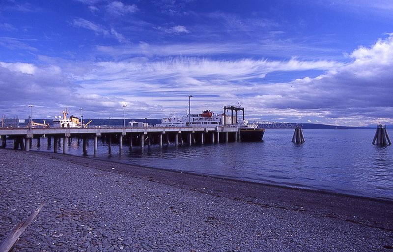 View along a jetty in Homer