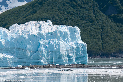Hubbard Glacier at the head of Yukatat Bay, Alaska. The largest tidewater glacier in North America. Cliff face over 6 miles wide.