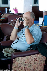 Jim in the Hemisphere lounge making sure the going in the right direction!