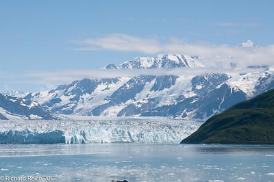 Hubbard Glacier at the head of Yukatat Bay, Alaska. The largest tidewater glacier in North America. Cliff face over 6 miles wide.
