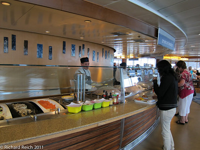 Island Cafe on Resort Deck 11. This was a very large and varied Cafe where we had most lunches and breakfasts.