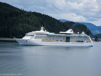 Radiance of the Sea, Royal Carribbean anchored off shore of Icy Straight Point on Chichagof Island, Alaska