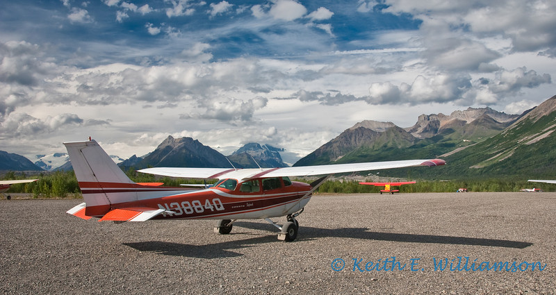 McCarthy airfield, in Wrangell-St. Elias National Park