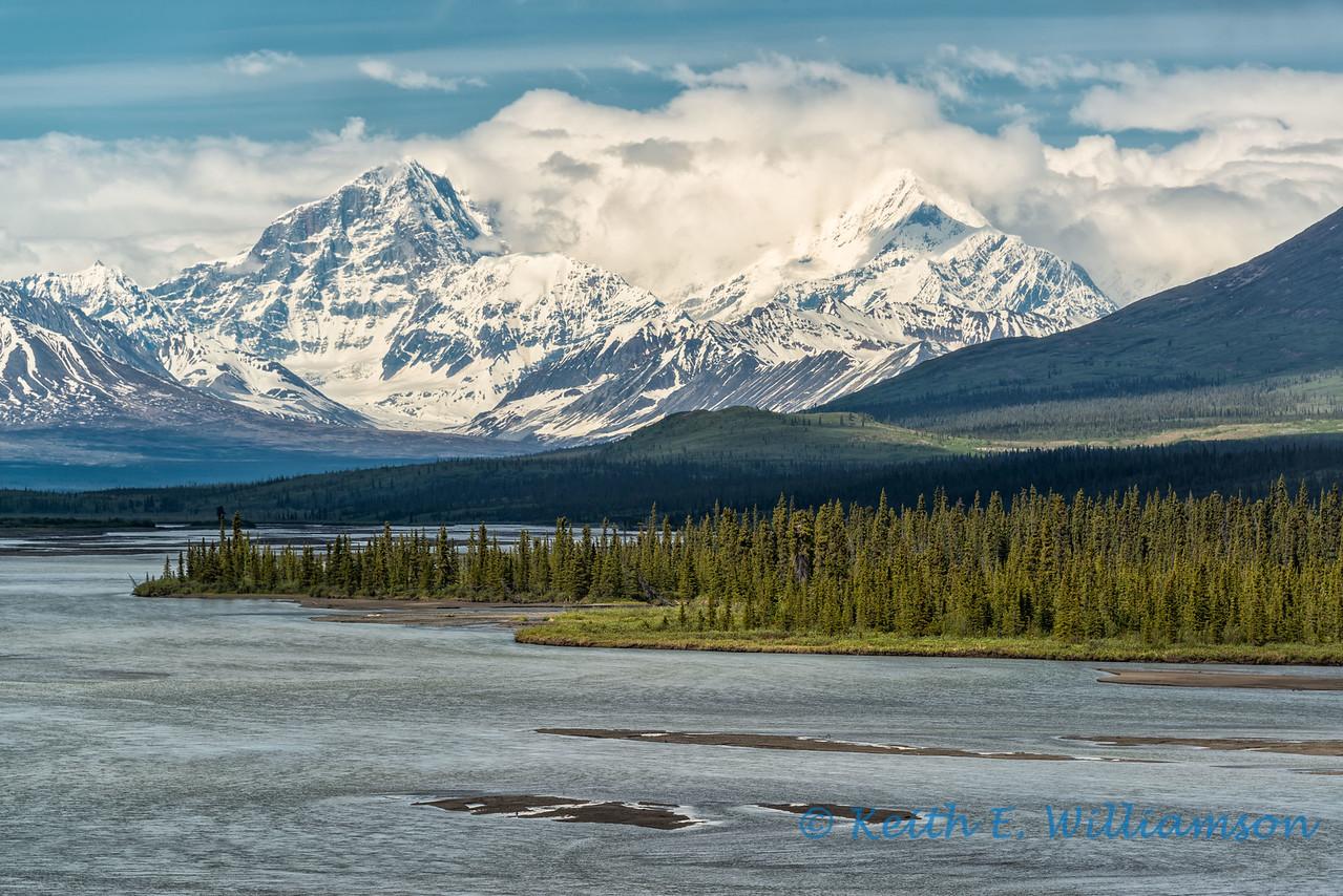 Mount Deborah and Susitna River, Alaska