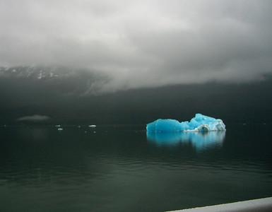 Blue ice was abundant
