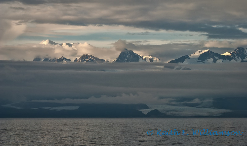 La Perouse Glacier, and Fairweather Range, from Gulf of Alaska