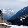 Scenery along train ride from the summit at the border of the US and Canada, White Pass and Yukon Route out of Skagway