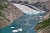 Glacier emptying into Glacier Bay