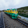 Our locomotive de-couples from the passengers coaches to re-attach to the opposite end for the return trip to Skagway.