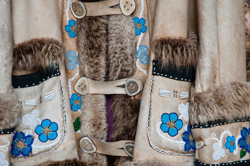 Detail of Athabascan clothing.
