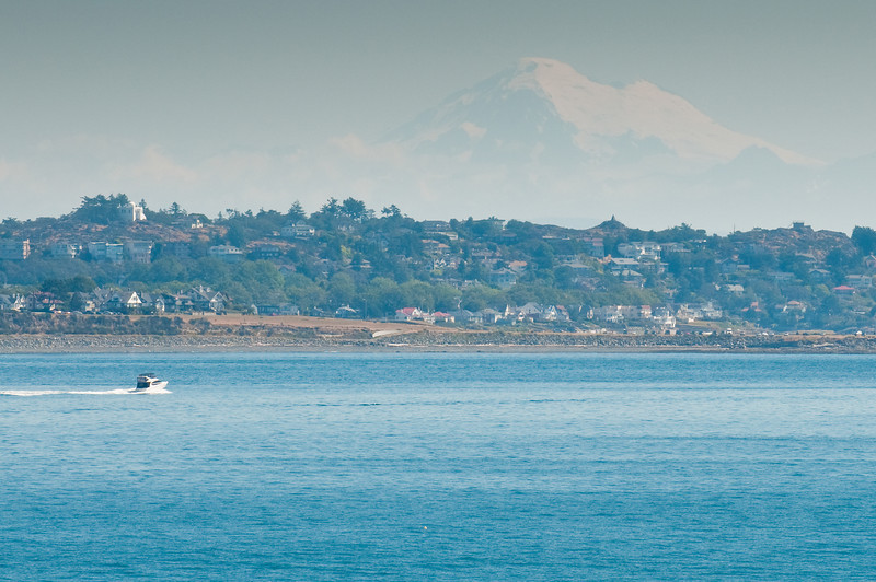 Victoria BC with Mt. Baker in Background