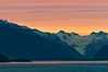 Leaving Skagway, under a brilliant sunset