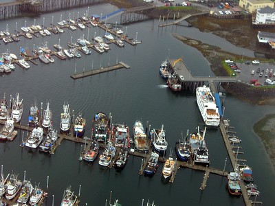 Ariel view of Petersburg.  That's our boat on the right