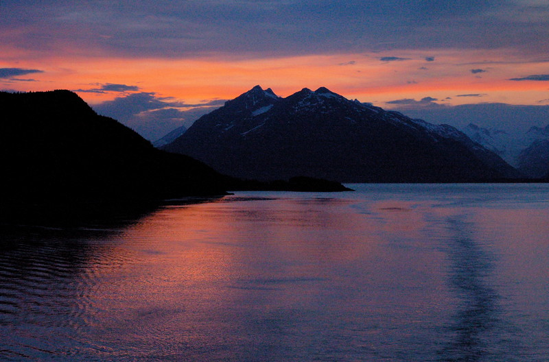 Sunset, Inside Passage, Alaska