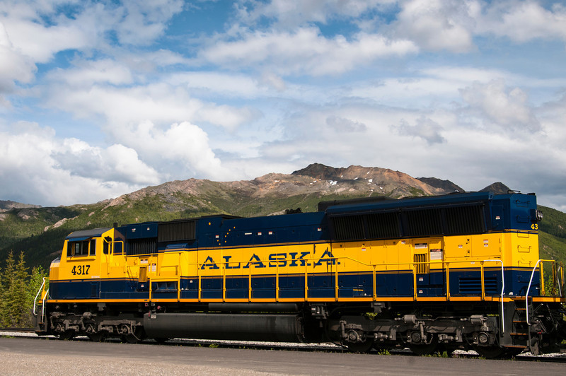 A locomotive of the Alaska Railroad