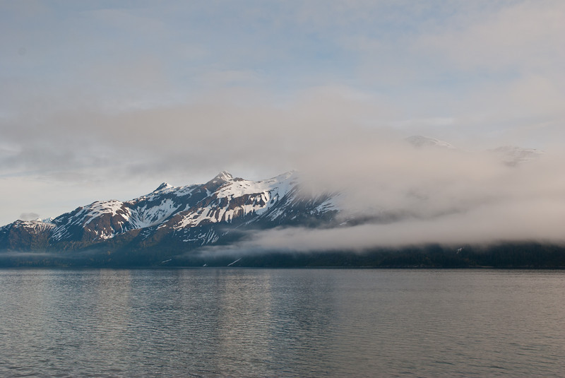 Steaming towards Glacier Bay the next morning.