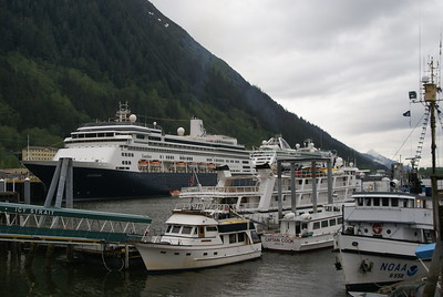 Our boat vs. the big cruise ships