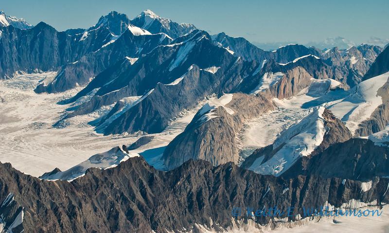 Ridge upon ridge, in the Alaska Range