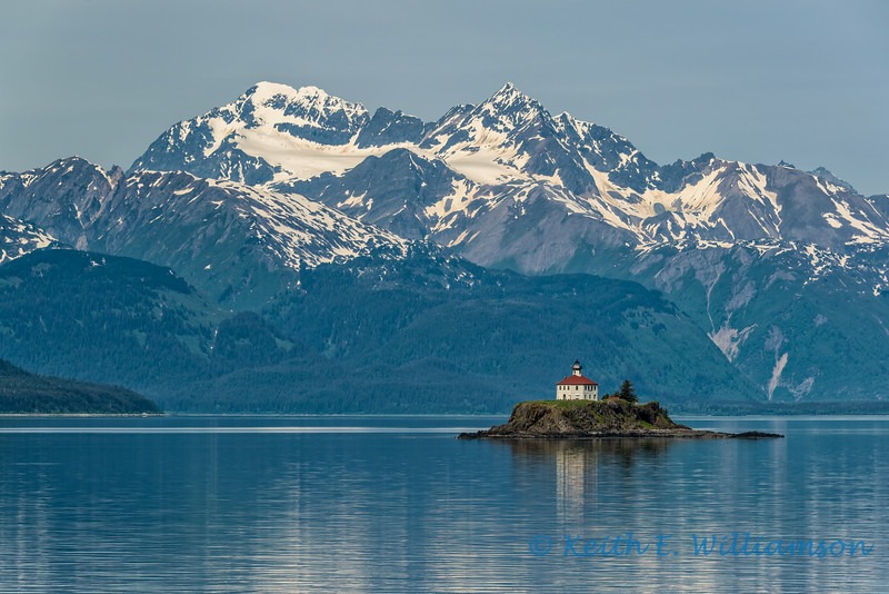 Eldred Rock lighthouse, Lynn Canal, Alaska