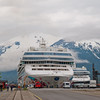 The Pearl and the Jewel docked at Skagway.