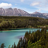 Emerald Lake in the Yukon. Limestone deposits make the turquoise color.