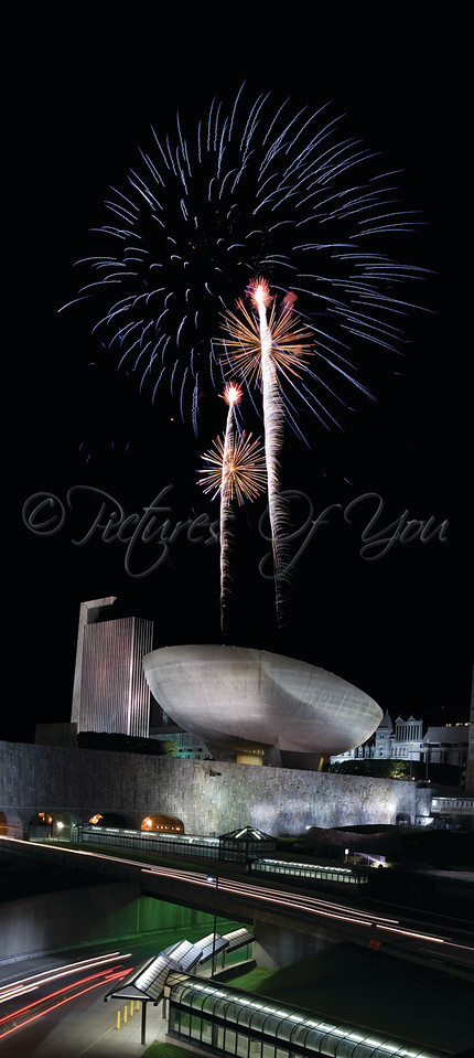 "Albany's Empire State Plaza featuring ""The Egg"" - Performing Arts Center on July 4th 2009"
