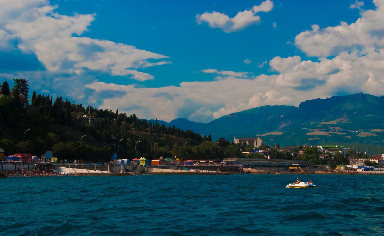 Alushta, view from sea