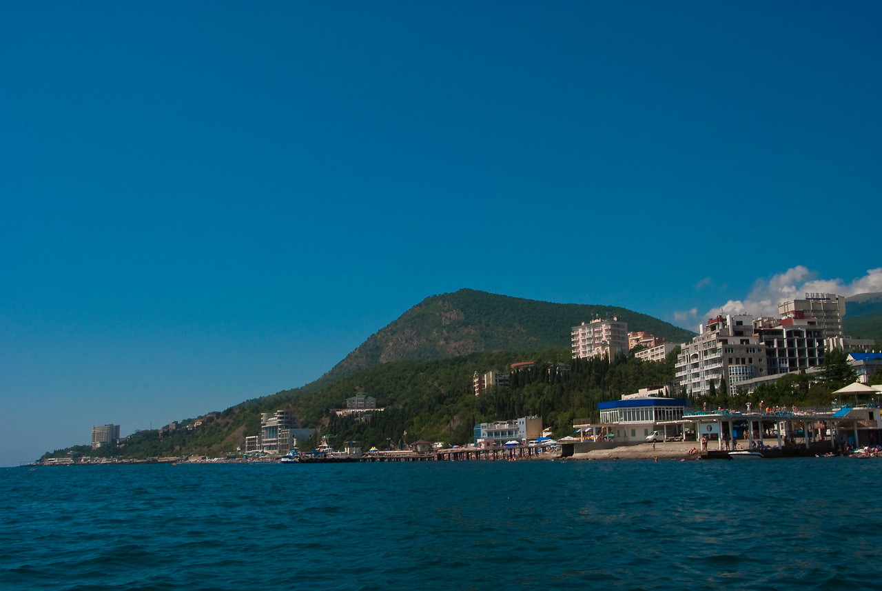 Alushta, view from sea