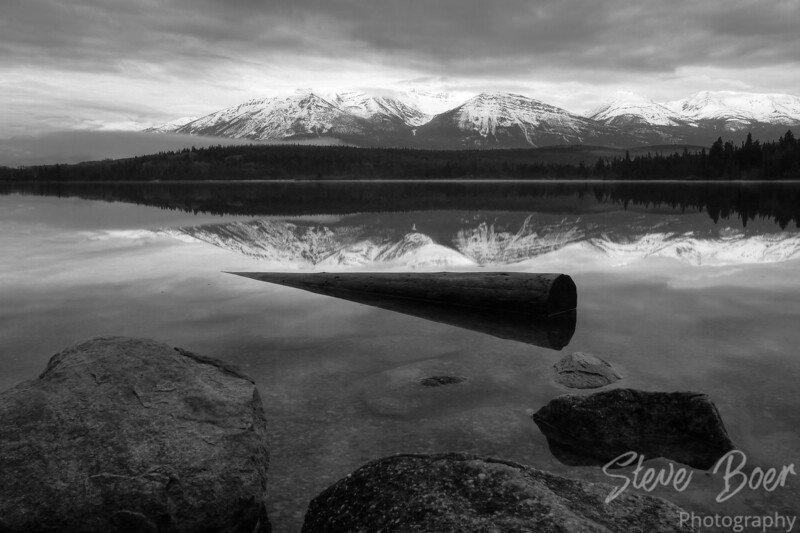 Pyramid Lake B&W