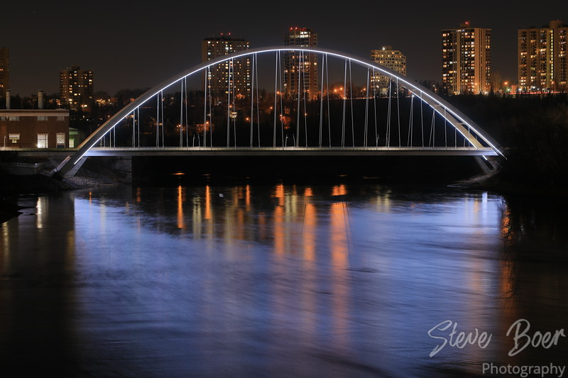 Walterdale Bridge at night