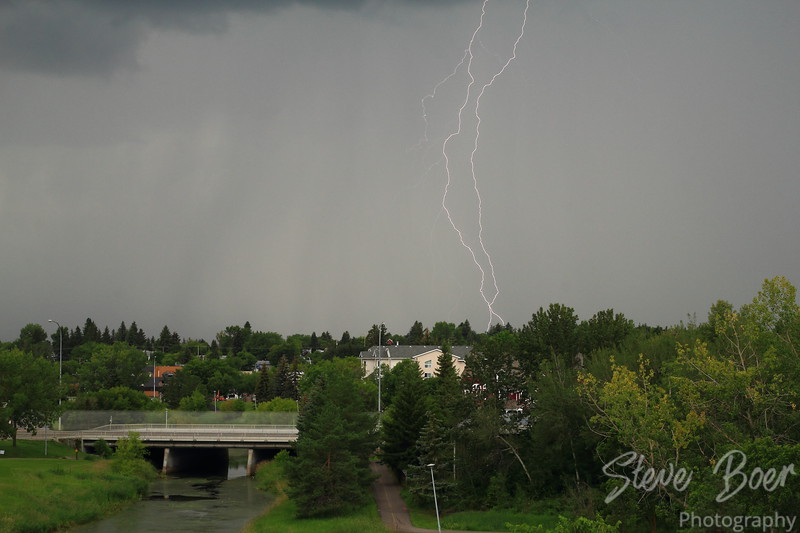 Lightning over St. Albert