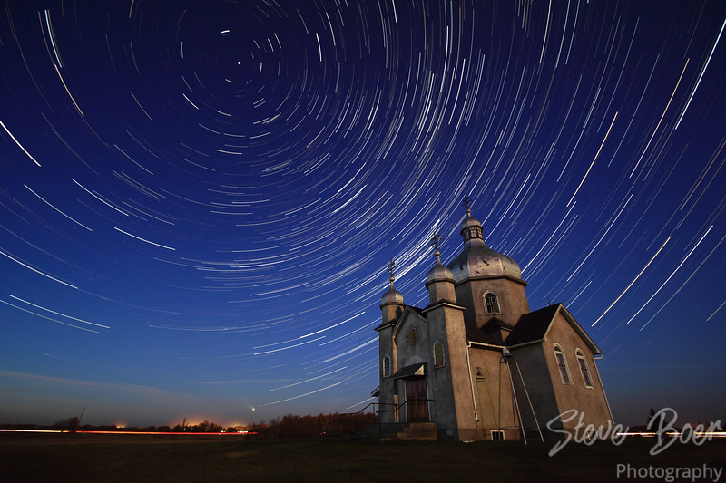 Star Trails at Ukrainian Orthodox Church