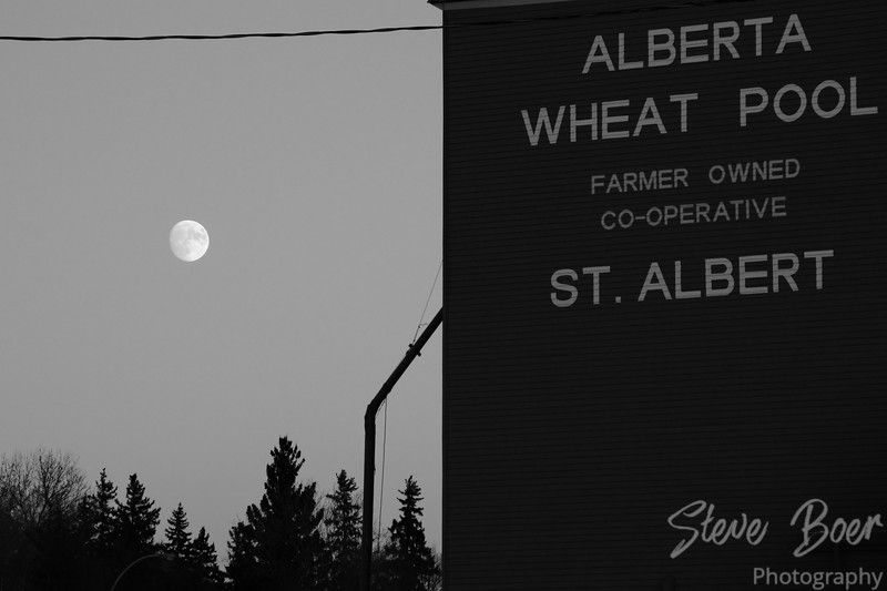 Moon and grain elevator