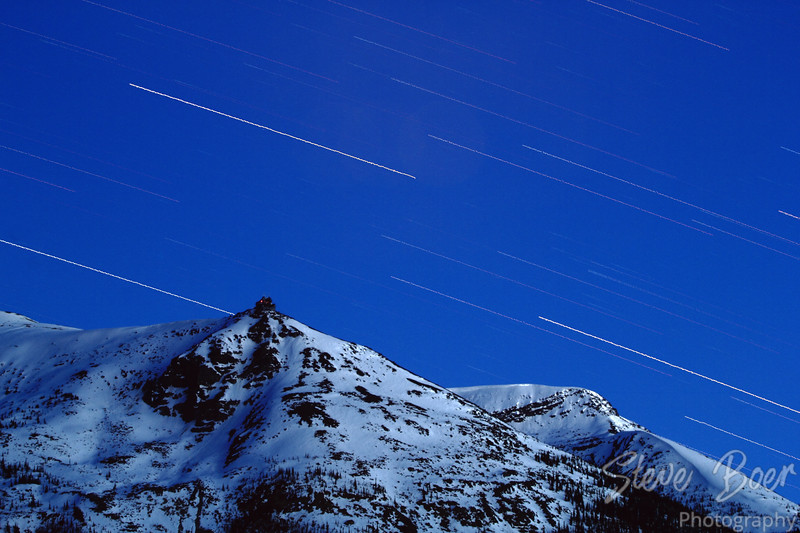 Jasper Tram Station Star Trail