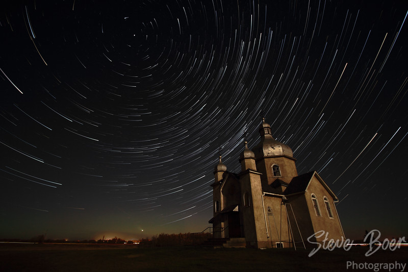 Comet Effect Star Trails at Ukrainian Orthodox Church