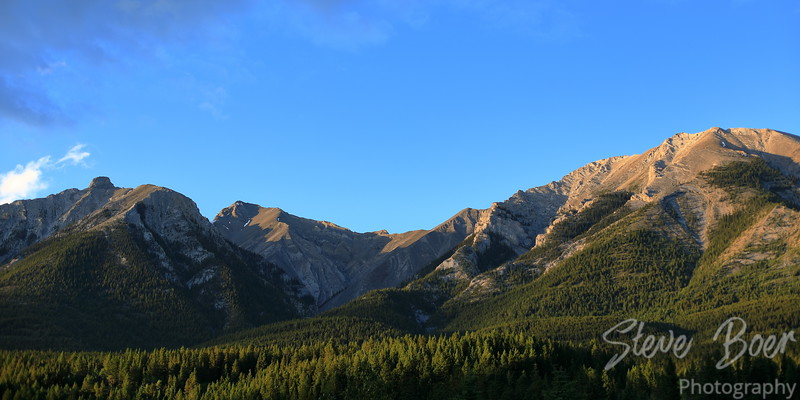 Mountains north of Canmore Alberta