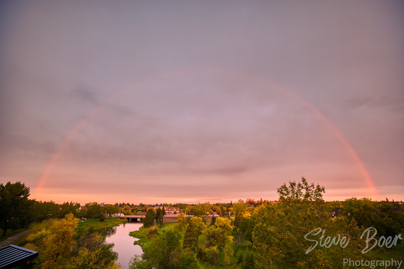 Rainbow over St. Albert