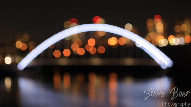 Walterdale Bridge defocused