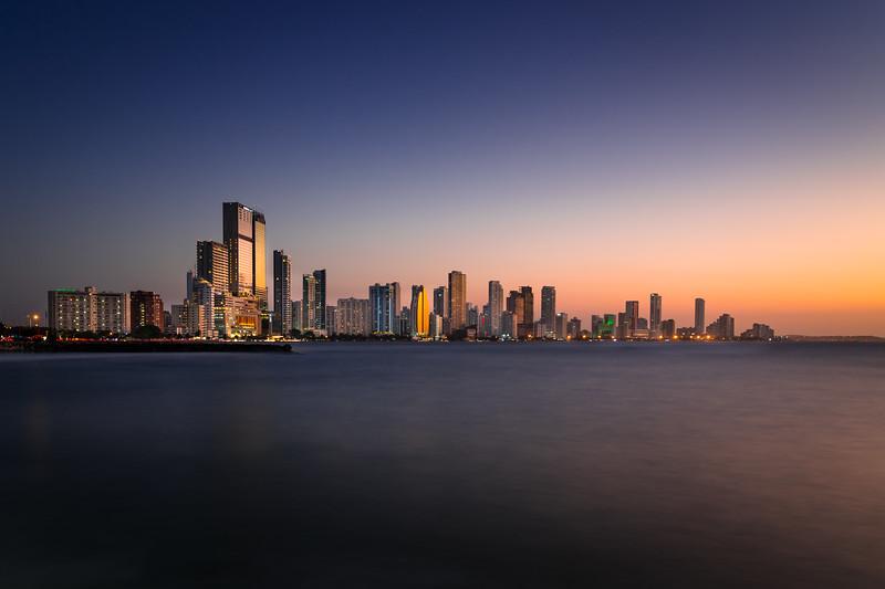 Cartagena de Indias after sunset