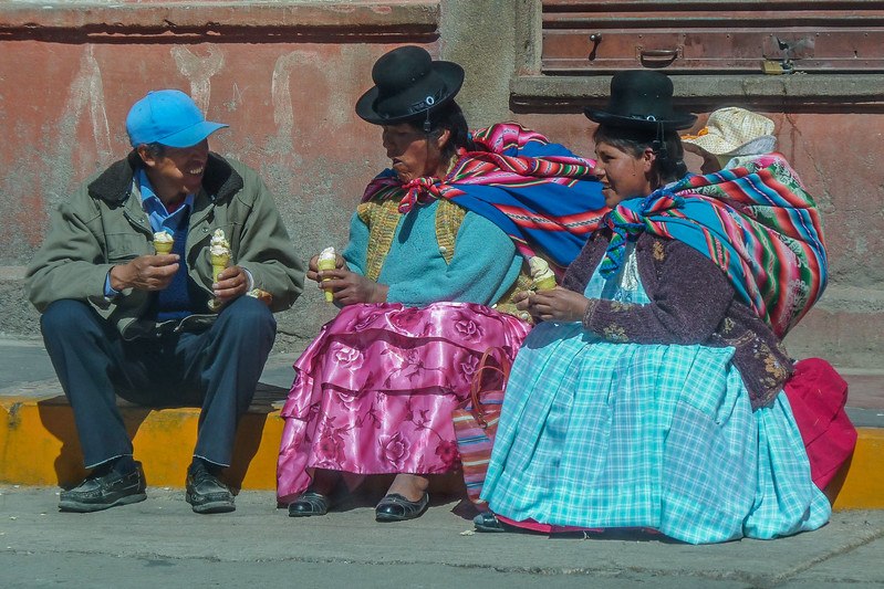 Bowler hats are very popular with Bolivian and Peruvian women