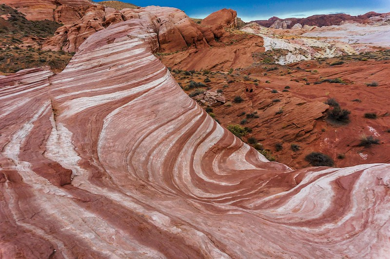 Fire Wave rock in Valley of Fire State Park, Nevada,