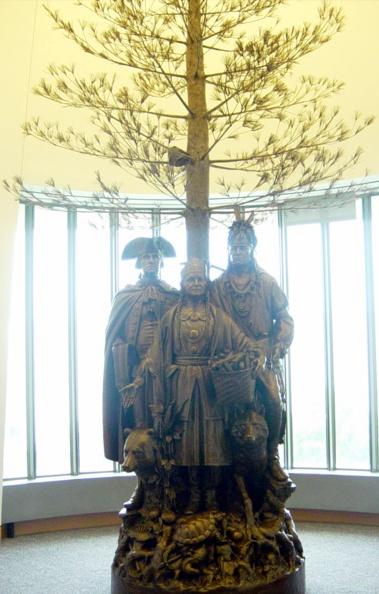 Statue inside museum.