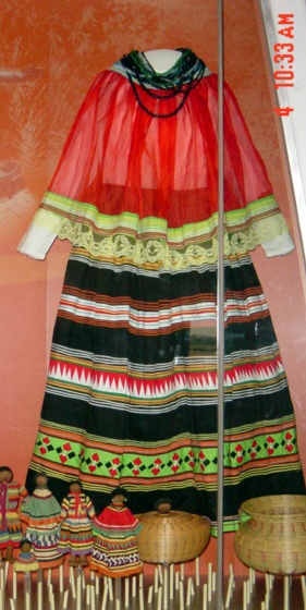 Seminole traditional clothing.