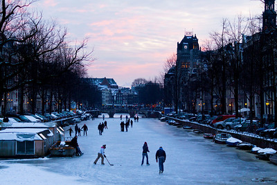 Sunset on Keizersgracht
