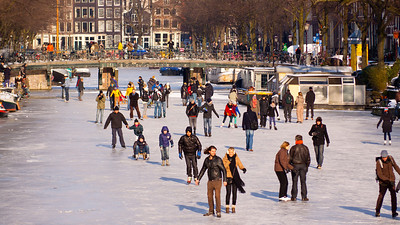 FROZEN SOLID  Skating Fever  It's in the blood. The Dutch love to skate on natural ice it was once the only way to travel between remote villages in the winters long ago. Eventually several nights of sub-zero temperatures made the ice thick enough to skate on and Amsterdammers and tourists descended on to the ice.