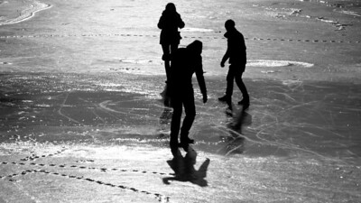 Silhouettes on ice